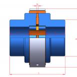 Acoplamiento elástico para eje directo :: UNE Acoflex A series