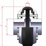 Acoplamiento flexible para eje directo :: UNE DVA Series