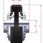 Acoplamiento flexible para eje directo :: UNE FF Series