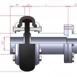 Acoplamiento flexible con espaciador :: UNE MTD Series