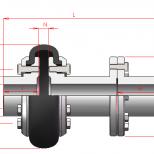 Acoplamiento flexible con espaciador :: UNE SD Series