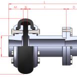Acoplamiento flexible con espaciador :: UNE FTD Series