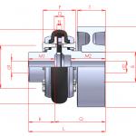 Acoplamiento flexible para freno :: UNE P Series