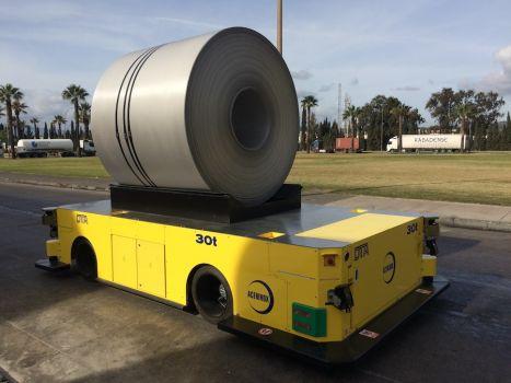 AGV de 30 toneladas para el manejo de bobinas DTA