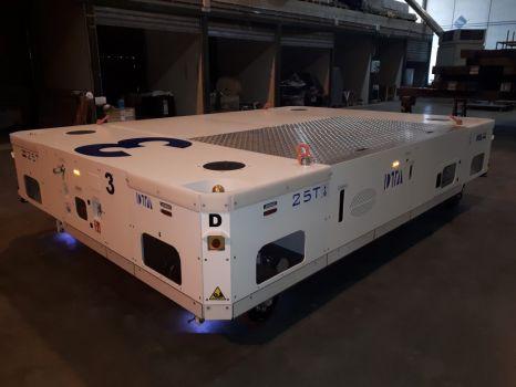 AGV híbrido para mover fuselaje de aviones DTA