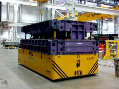 Carretón eléctrico para el transporte de matrices DTA