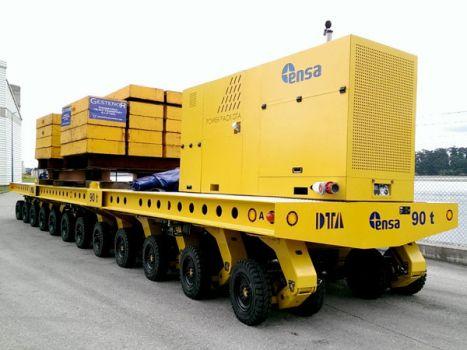 Carro autopropulsado modular para mover contenedores radioactivos DTA
