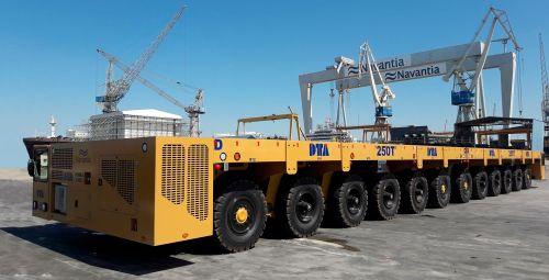 Carro motorizado para astilleros DTA