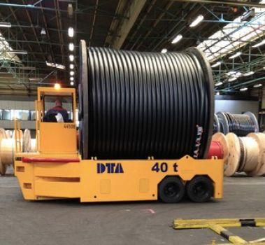 Carro motorizado diésel para el transporte de bobinas DTA