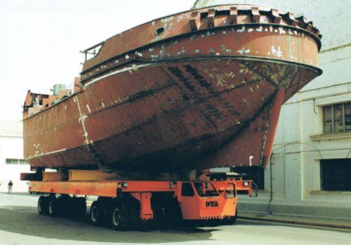 Carro motorizado eléctrico para el transporte de barcos DTA
