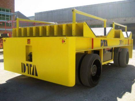 Carro motorizado eléctrico para el transporte de bobinas DTA
