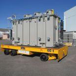 Carro motorizado con elevación para el transporte de transformadores :: DTA