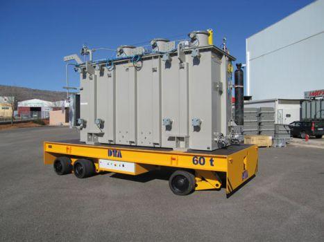 Carro motorizado con elevación para el transporte de transformadores DTA