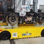 Carro motorizado para el transporte de bogies de trenes :: DTA