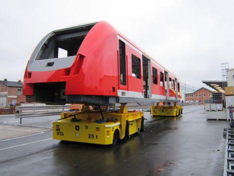 Carros motorizados para el transporte de vagones DTA