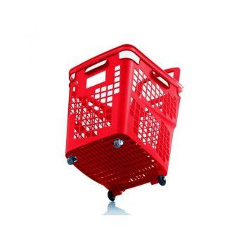 Cesta de compra y autoservicio CARMELO Cesta carrito con ruedas de 65L