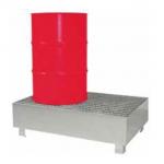 Cubeta de retención metálica para 2 bidones :: Fabricaciones Metálicas