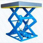 Mesa elevadora de doble tijera para alta cadencia :: Dexve