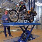 Mesa elevadora de tijera para motocicletas :: Dexve