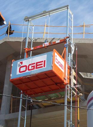 Montacargas elevador de materiales ogei s 1000 - Material de construccion segunda mano ...
