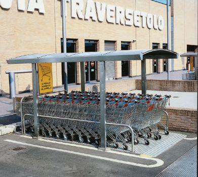 Parking cubierto para carros de supermercado COVERCARTT BASIC