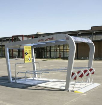 Parking cubierto para carros de supermercado COVERCARTT NICE
