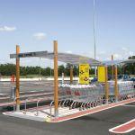Parking cubierto para carros de supermercado :: COVERCARTT SKY