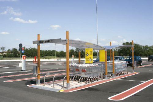 Parking cubierto para carros de supermercado COVERCARTT SKY