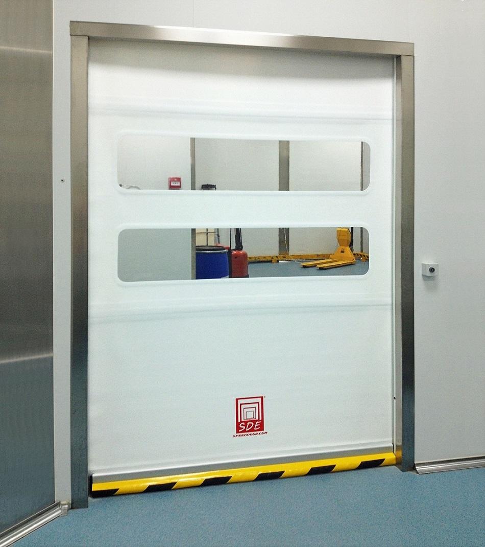 Puerta enrollable de aluminio speed door sd clean for Puerta enrollable