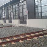 Puerta rápida de batiente para paso de trenes :: SACINE