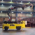 Remolque industrial con grúa :: DTA