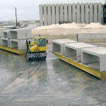 Rolltrailer para movimiento de piezas de hormigón :: DTA