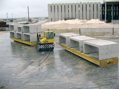 Rolltrailer para movimiento de piezas de hormigón DTA