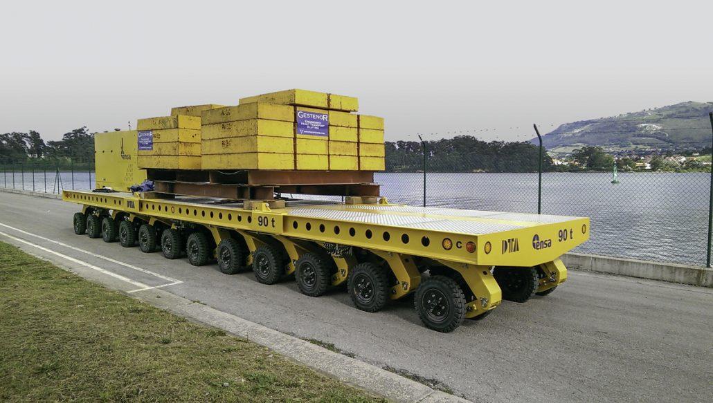SPMT para mover desechos de plantas nucleares DTA