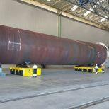 SPMT para mover secciones eólicas :: DTA