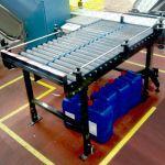 Transportador de rodillos para cargas no paletizadas :: Dexve