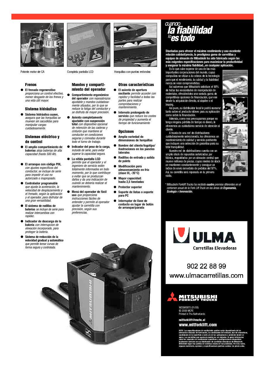 Cat logo de transpaleta el ctrica de conductor sentado for Ulma granada