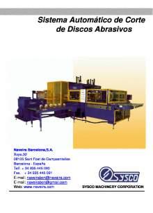 ABR - 40. Sistema automático de corte de discos abrasivos.