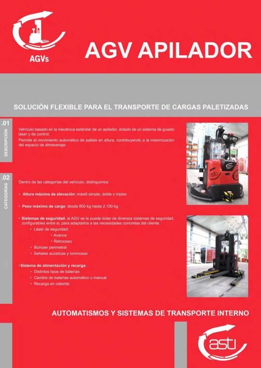 AGVs apiladores ASTI 1