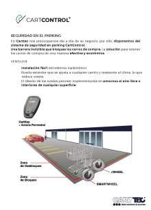 CARTTEC CARTCONTROL. Retenedor de carros de supermercado