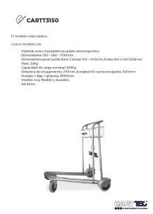CARTTEC  CARTT3150. Carro portaequipaje para aeropuerto