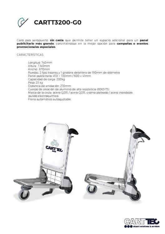 CARTTEC  CARTT3200-G0. Carro portaequipaje para aeropuerto 1