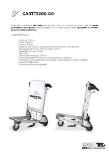 CARTTEC  CARTT3200-G0. Carro portaequipaje para aeropuerto