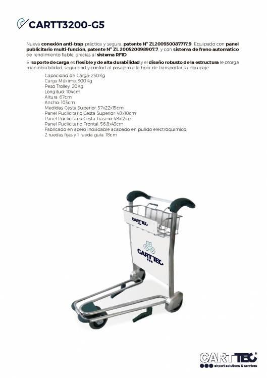 CARTTEC CARTT3200-G5. Carro portaequipaje para aeropuerto 1