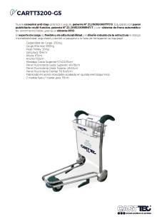 CARTTEC CARTT3200-G5. Carro portaequipaje para aeropuerto