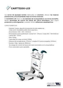 CARTTEC  CARTT3200-LG5. Carro portaequipaje para aeropuerto