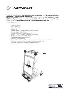 CARTTEC CARTT4060-VP. Carro portaequipaje para aeropuerto