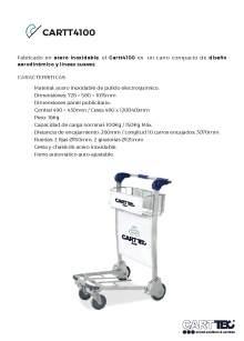 CARTTEC CARTT4100. Carro portaequipaje para aeropuerto