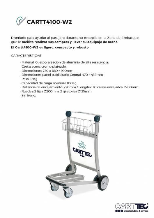 CARTTEC CARTT4100-W2. Carro portaequipaje para aeropuerto 1