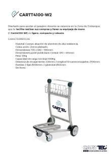 CARTTEC CARTT4100-W2. Carro portaequipaje para aeropuerto